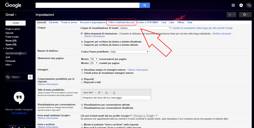 Gmail: come cancellare automaticamente e-mail in arrivo 2