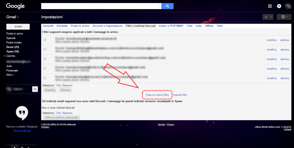 Gmail: come cancellare automaticamente e-mail in arrivo 3
