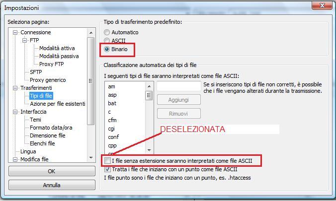 Come trasferire file senza errori con FileZilla