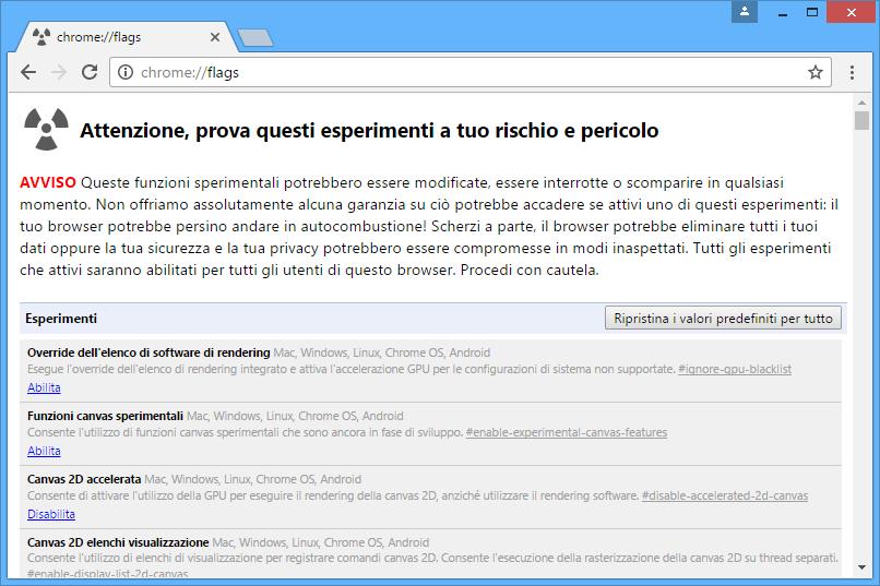 Come accedere alle impostazioni avanzate (nascoste) dei browser