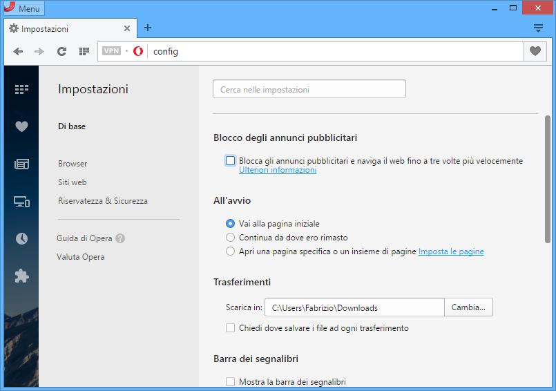 Come accedere alle impostazioni avanzate (nascoste) dei browser 4