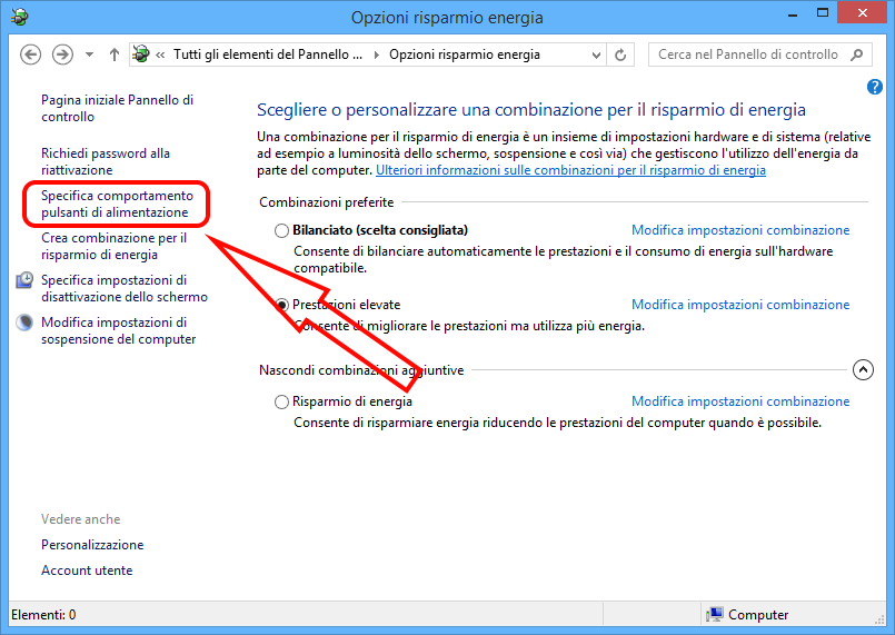 Come spegnere completamente Windows 8.1/10 2