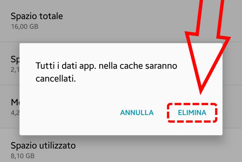 Come svuotare la memoria cache su Android 4