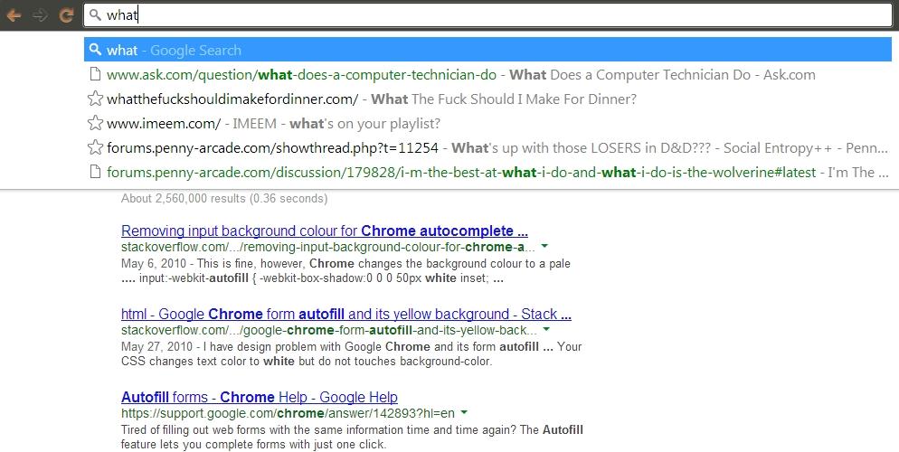 Come eliminare un risultato di autocompletamento su Chrome