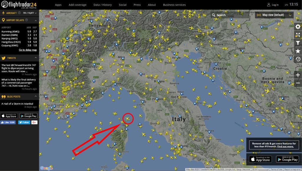 Come seguire la posizione dei voli in tempo reale