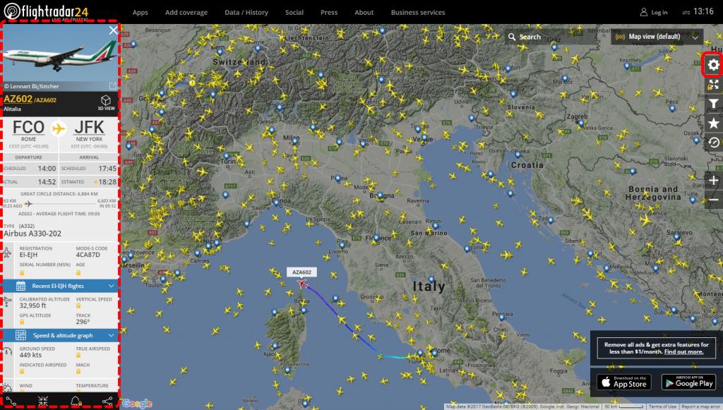 Come seguire la posizione dei voli in tempo reale 2