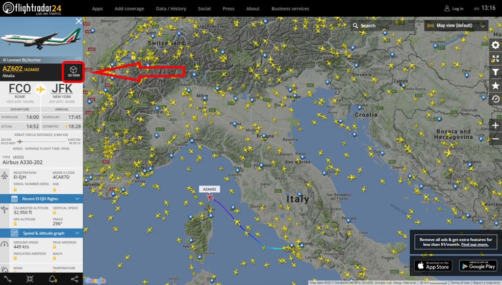 Come seguire la posizione dei voli in tempo reale 3