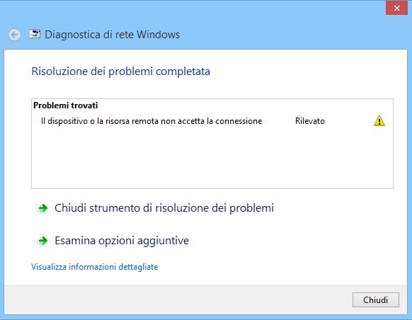 """Come risolvere """"il dispositivo o la risorsa remota non accetta la connessione"""" su Windows"""