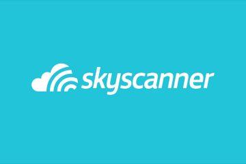 Come prenotare aereo risparmiando: Skyscanner logo