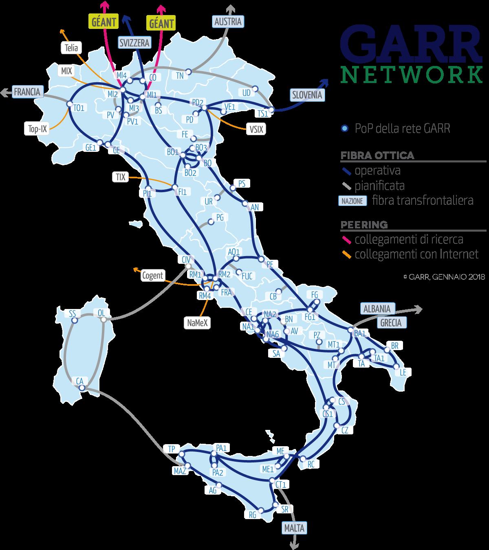 Che cos'è esattamente la rete GARR e come funziona