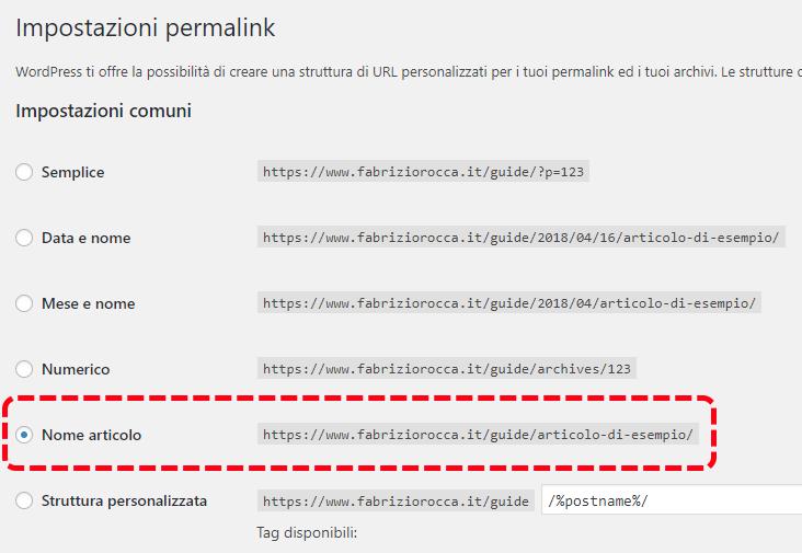 Perché è fondamentale cambiare il tipo di permalink su WordPress 2